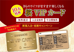 桜 VIPカードチラシ